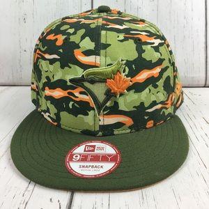 RARE Camo NewEra 9Fifty SnapBack Blue Jays Hat NEW